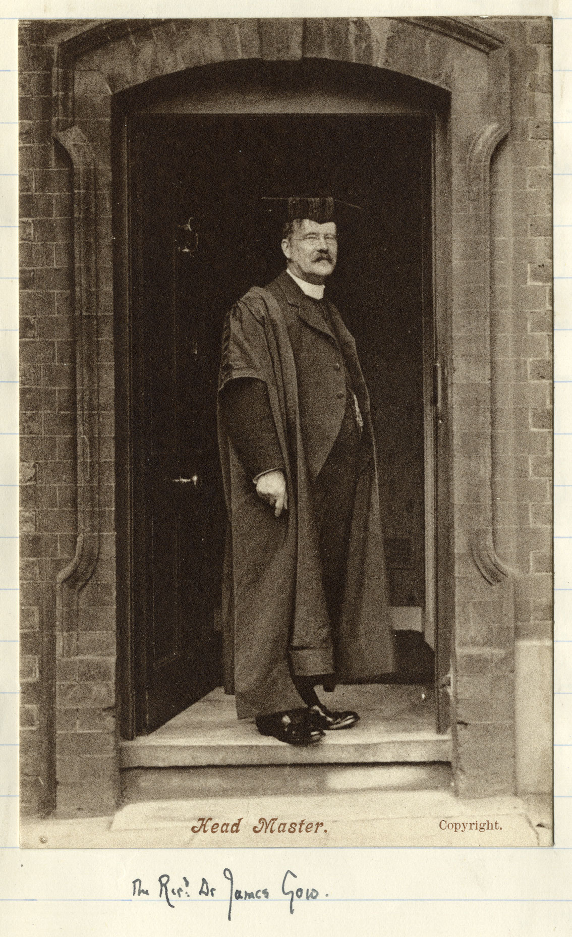 Photograph of Head Master Gow