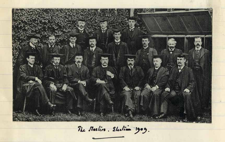 Photograph of School Masters, 1909