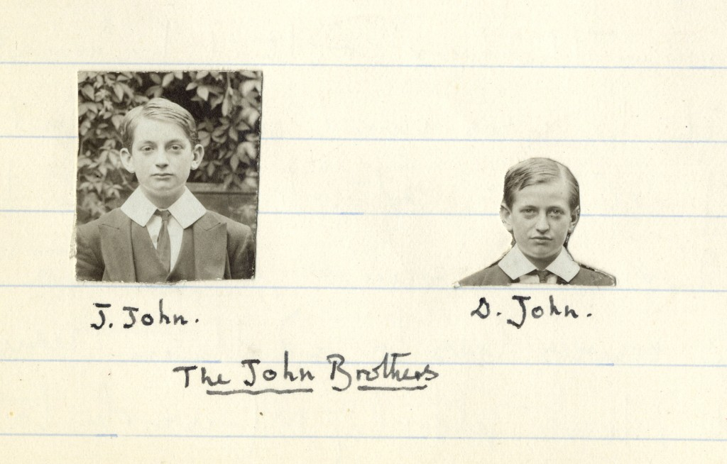 Two photographs of the John Brothers